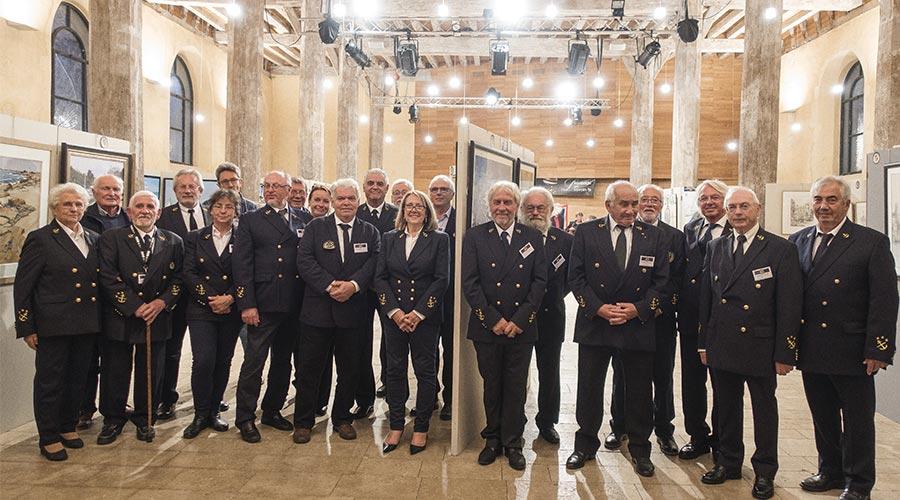 Quelques membres à la Ferté-Bernard en 2019 © Académie des Arts et Sciences de la Mer