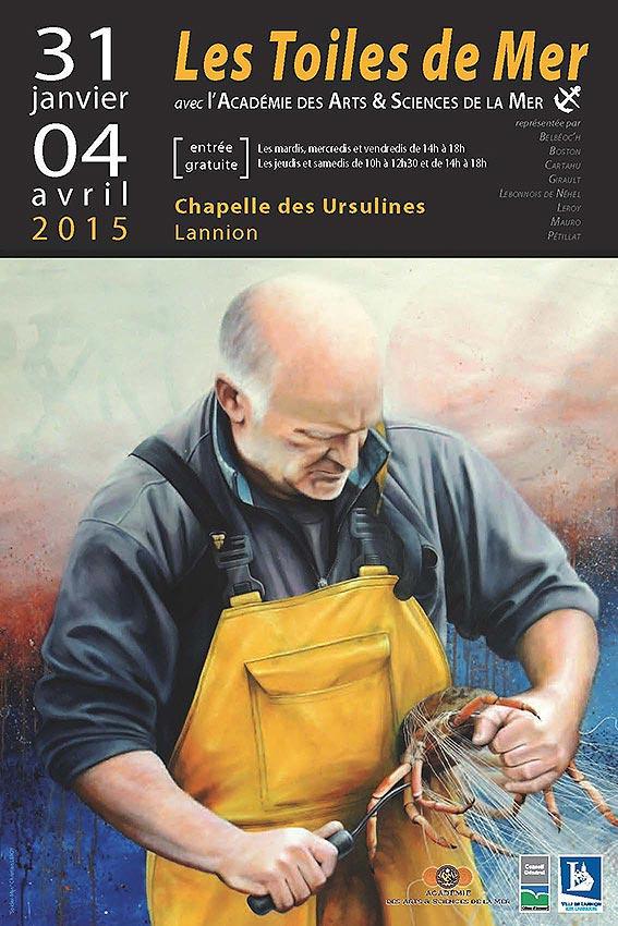 Affiche Lannion Usulines © Christian LEROY pour l'Académie des Arts & Sciences de la Mer
