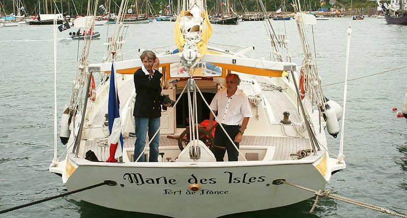 Katty et Jacques Scharwatt à bord de Marie des Isles