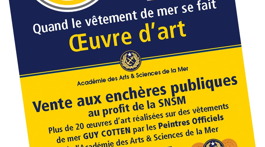 Vente Guy Cotten - SNSM - 1 © Académie des Arts et Sciences de la Mer