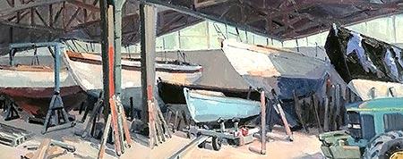 Bétrice ALIAMUS Sous le hangar 90x90cm