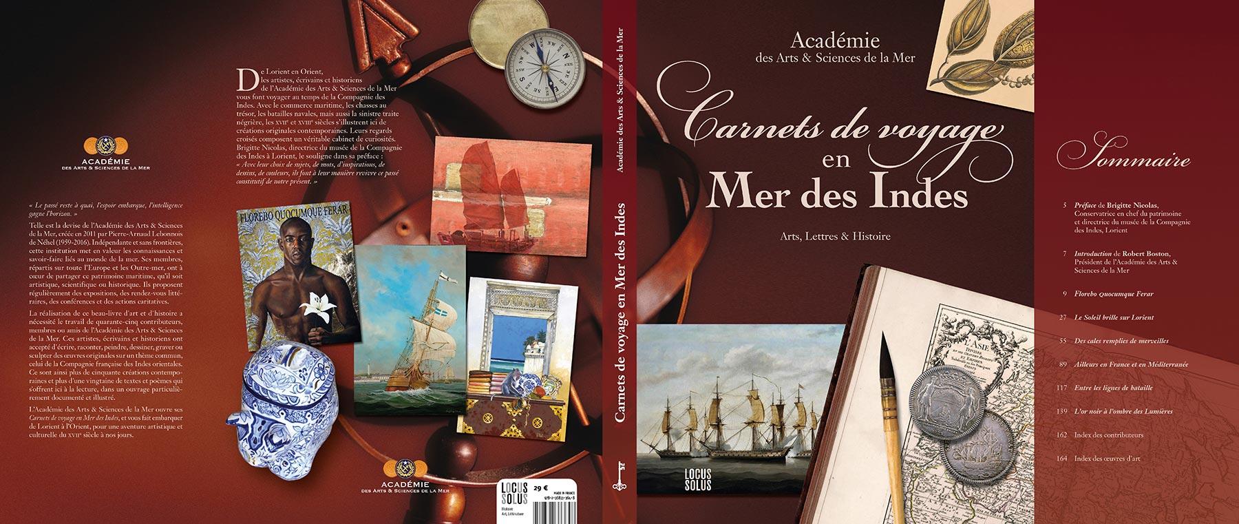 Carnets de voyage en Mer des Indes par l'Académie des Arts et Sciences de la Mer - Locus Solus - jaquette