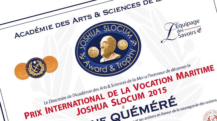 Prix Joshua Slocum © Académie des Arts et Sciences de la Mer