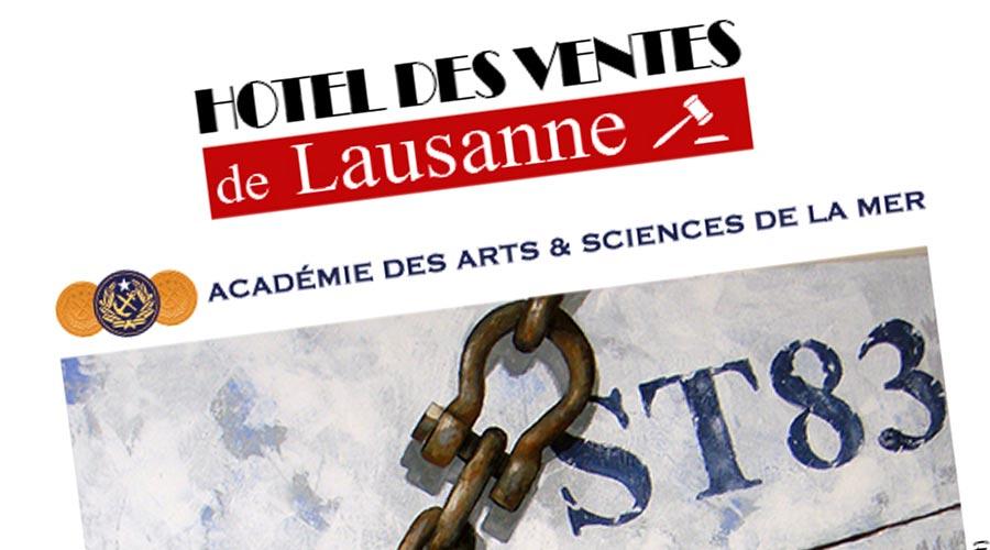 Vente Drouot par l'Hôtel des Ventes de Lausanne © Académie des Arts et Sciences de la Mer